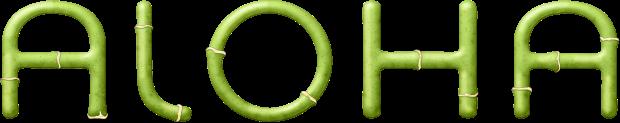 mot-wordart-bambou-aloha-vert