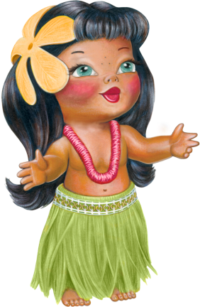personnage-fille-hula-vahiné