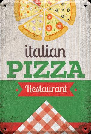 objet-plaque-métal-déco-pizza-multicolore