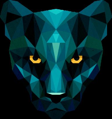 animal-fauve-panthère-bleu