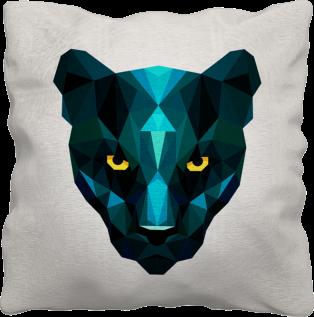 couture-coussin-animal-panthère-bleu